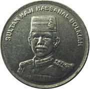 5 sen - Hassanal Bolkiah I – avers