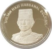5 Sen - Hassanal Bolkiah I (25ème anniversaire du Brunei Currency Board) – avers
