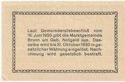10 Heller (Brunn am Gebirge) – revers