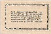 20 Heller (Brunn am Gebirge) – revers