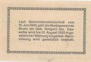 50 Heller (Brunn am Gebirge) – revers