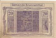 20 Heller (Brunnenthal) – avers