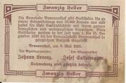 20 Heller (Brunnenthal) – revers