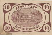 10 Heller (Brunnenthal) – avers