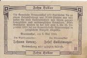10 Heller (Brunnenthal) – revers
