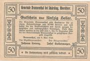 50 Heller (Brunnenthal) -  revers