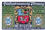 25 Pfennig (Brunsbüttelkoog; Verein für Handel, Gewerbe und Industrie) – avers