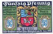 50 Pfennig (Brunsbüttelkoog; Verein für Handel, Gewerbe und Industrie) – avers