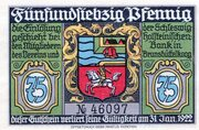 75 Pfennig (Brunsbüttelkoog; Verein für Handel, Gewerbe und Industrie) – avers