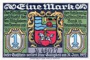 1 Mark (Brunsbüttelkoog; Verein für Handel, Gewerbe und Industrie) – avers