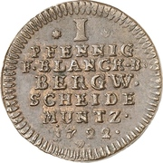 1 Pfennig - Ludwig Rudolf – revers