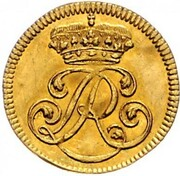 ½ ducat Ludwig Rudolf – avers