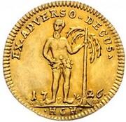 ½ ducat Ludwig Rudolf – revers
