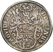 ½ Thaler - Wilhelm VI August – revers