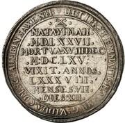 1 thaler Georg Wilhelm (mort de Katharina Sophia) – revers