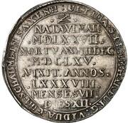 ½ thaler Georg Wilhelm (mort de Katharina Sophia) – revers