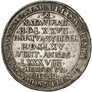 ¼ thaler Georg Wilhelm (mort de Katharina Sophia) – revers