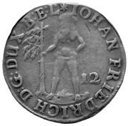 12 mariengroschen Johann Friedrich – avers