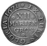 12 mariengroschen Johann Friedrich – revers