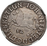 12 Mariengroschen - Johann Friedrich – avers