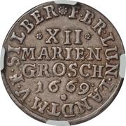 12 Mariengroschen - Johann Friedrich -  revers