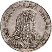 1 thaler Johann Friedrich – avers