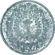 Essai de frappe d´une monnaie de 5 thaler de l´état de Brunswick-Lüneburg-Calenberg – avers