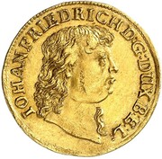 1 ducat Johann Friedrich – avers
