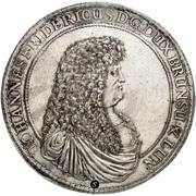 5 thaler Johann Friedrich (Mort) – avers