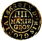 4 mariengroschen Johann Friedrich – revers