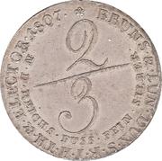 ⅔ thaler - George III – revers