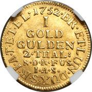 1 goldgulden George II August – revers