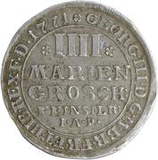 4 mariengroschen George III – avers