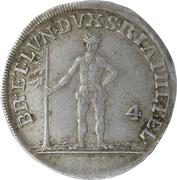 4 mariengroschen George III – revers