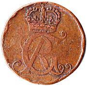 1 pfennig George Ludwig – avers