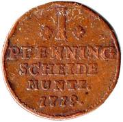 1 pfennig George Ludwig – revers