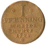 1 Pfenning - George Ludwig – revers