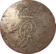 1 pfenning Georg III – avers