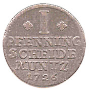 1 Pfennig - George Ludwig – revers