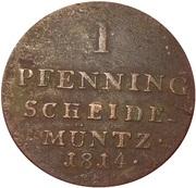 1 pfenning Georg III – revers