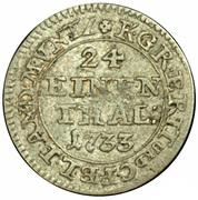 1/24 Taler - George II August – revers