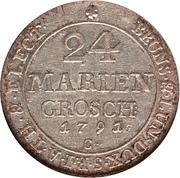 24 mariengroschen / ⅔ thaler - George III – revers