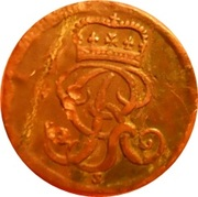 1½ Pfenning - George II August – avers