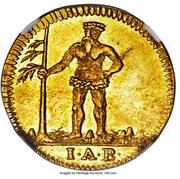 1 pfenning George II (Frappe essai en or) – avers
