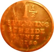 1½ Pfenning - George II August – revers