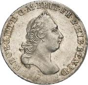 ⅔ thaler George III – avers