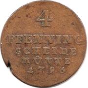 4 Pfenning - George III – revers