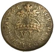 6 pfennig George III – revers