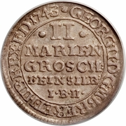 2 Mariengroschen - George II August – avers