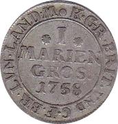 1 mariengroschen Georg August II – revers
